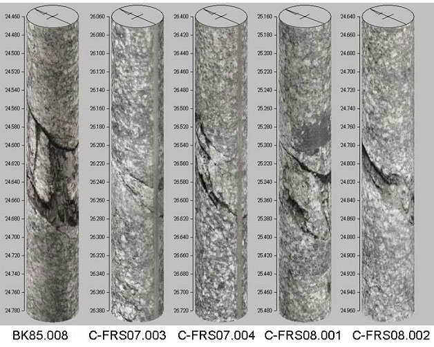Sample images of the FZ2 target fracture. Image: CRIEPI.