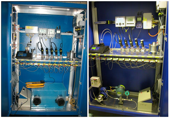 Two chemistry cabinets for injection and extraction during tracer tests, and adaptable for long-term monitoring